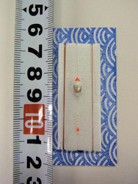 画像3: 手作りタナゴ釣り用 山吹 極小真ん中通し仕掛け 白金