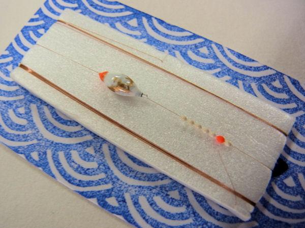 画像2: 手作りタナゴ釣り用 山吹 極小真ん中通し仕掛け 白金