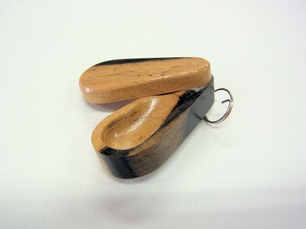 画像3: 押し出し式 総黒柿材使用 グルテン入れ ロングタイプ