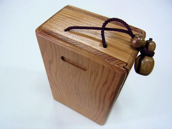 画像1: 感謝価格!会員価格20%引き!国産杉材使用 両面スライド式黒柿瓢箪根付小物道具箱