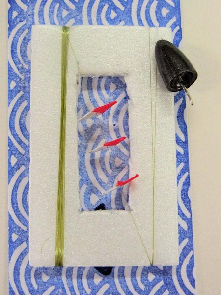 画像1: 新作タナゴ ミャク釣りアズマ式遊動トンボ仕掛け 中通し重りごつんこ仕掛け