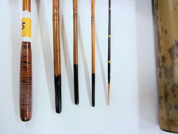 画像3: 感謝価格!小継ぎタナゴ釣り用和竿 矢竹 藤巻握り 並継 五本継ぎ 55センチ