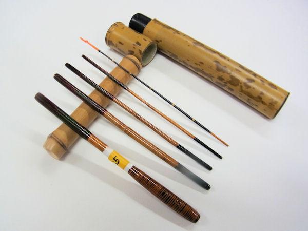 画像1: 感謝価格!小継ぎタナゴ釣り用和竿 矢竹 藤巻握り 並継 五本継ぎ 55センチ