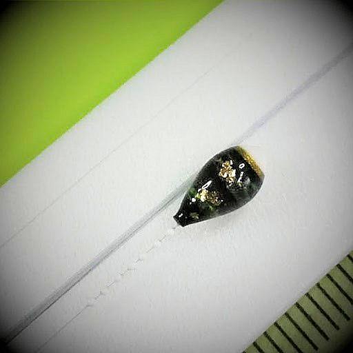 画像2: 新作ポン太工房プロトタイプの中通し浮き仕掛け 山吹 スーパーホワイト(トップ)/黒(ボディ) モノスレッドスモーク