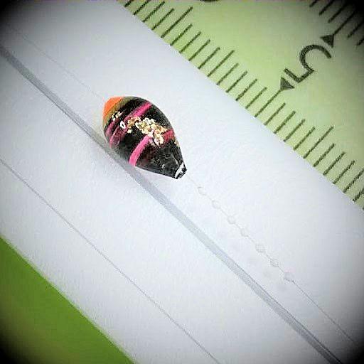 画像2: 新作ポン太工房プロトタイプの中通し浮き仕掛け 山吹 蛍光オレンジ(トップ)/黒×ピンク(ボディ)  モノスレッドスモーク