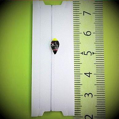 画像1: 新作ポン太工房プロトタイプの中通し浮き仕掛け 山吹 蛍光イエロー(トップ)/黒×ピンク(ボディ) モノスレッドスモーク
