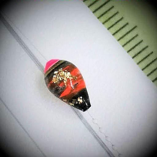 画像2: 新作ポン太工房プロトタイプの中通し浮き仕掛け 山吹 蛍光ピンク(トップ)/茶×黒(ボディ) モノスレッドスモーク