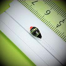 画像2: 新作ポン太工房プロトタイプの中通し浮き仕掛け 山吹 レッド(トップ)/ブラック×グリーン(ボディ) モノスレッドスモーク