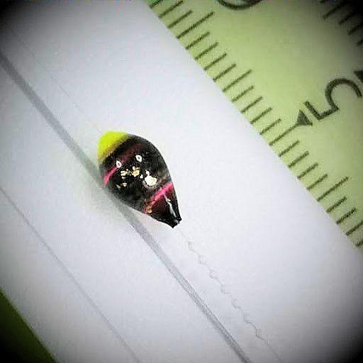 画像2: 新作ポン太工房プロトタイプの中通し浮き仕掛け 山吹 蛍光イエロー(トップ)/黒×ピンク(ボディ) モノスレッドスモーク