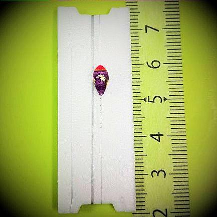 画像1: 新作ポン太工房プロトタイプの中通し浮き仕掛け 山吹  ピンク(トップ)/紫(ボディ) モノスレッドスモーク