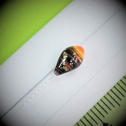 画像2: 新作ポン太工房プロトタイプの中通し浮き仕掛け 山吹 蛍光オレンジ(トップ)/黒(ボディ)  モノスレッドスモーク