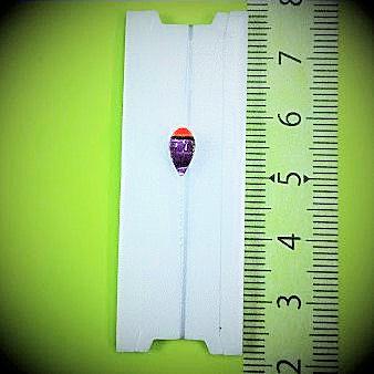 画像1: 新作ポン太工房プロトタイプの中通し浮き仕掛け 山吹 蛍光レッド(トップ)/紫(ボディ) モノスレッドスモーク