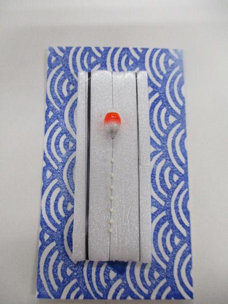 画像1: 新作黒糸使用 手作りバラタナゴ釣り用 極小彩真ん中通し仕掛け ライングラデーション朱銀 山吹