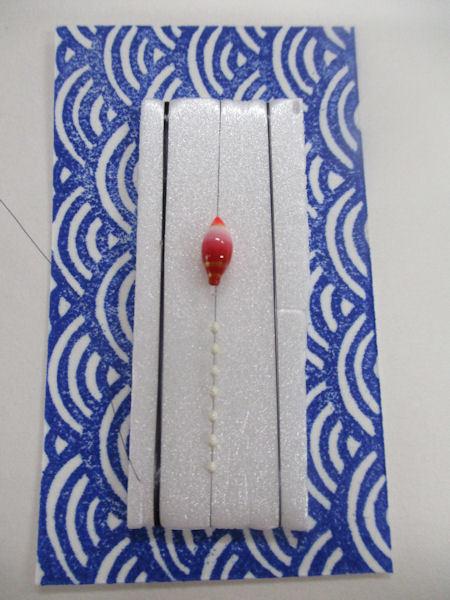 画像1: 新作黒糸使用 手作りバラタナゴ釣り用 極小彩真ん中通し仕掛け ライングラデーション白朱 山吹