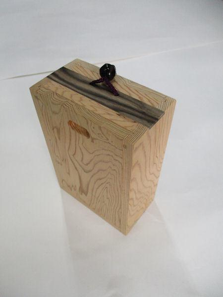 画像1: 40%OFF!!総屋久杉材使用 両面スライド式黒柿瓢箪根付小物道具箱