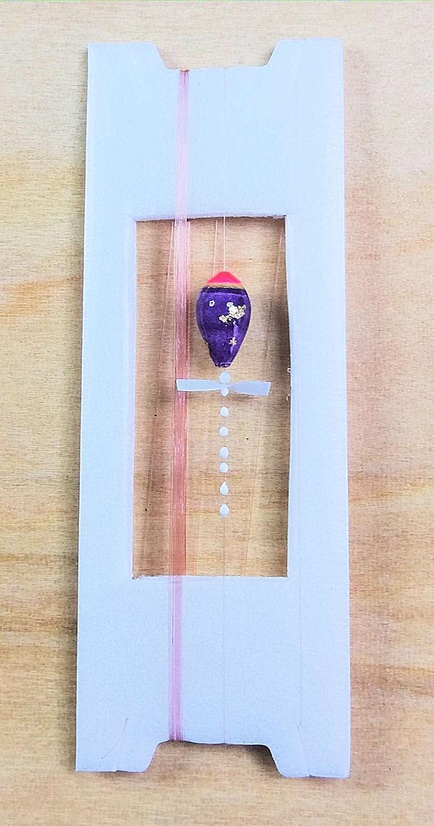 画像1: 新作ポン太工房超軽量オリジナルプロペラ超高感度極小中通し浮きタナゴ仕掛け蛍光ピンク×紫グラデーション モノスレッドSブラウン