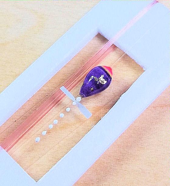 画像3: 新作ポン太工房超軽量オリジナルプロペラ超高感度極小中通し浮きタナゴ仕掛け蛍光ピンク×紫グラデーション モノスレッドSブラウン