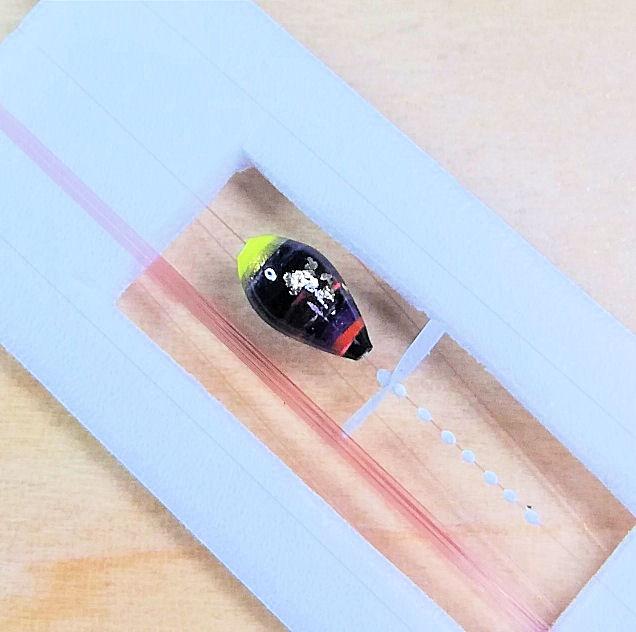 画像2: 新作ポン太工房超軽量オリジナルプロペラ超高感度極小中通し浮きタナゴ仕掛け  蛍光イエロー×黒系グラデーション モノスレッドSブラウン