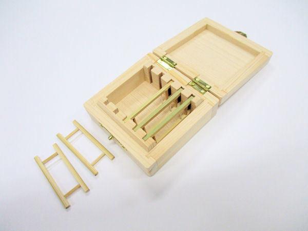 画像3: 限定品!総木曽檜材使用 無塗装 仕掛け入れ 真竹仕掛け巻き5本入り