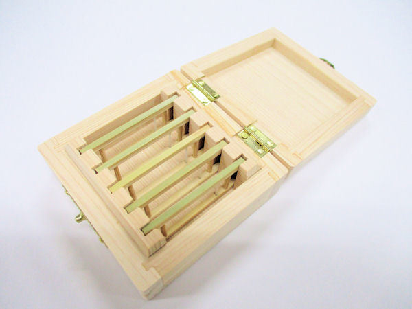 画像2: 限定品!総木曽檜材使用 無塗装 仕掛け入れ 真竹仕掛け巻き5本入り