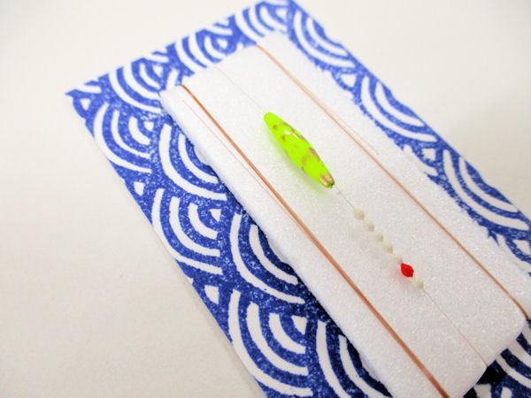 画像2: 手作りタナゴ釣り用 寝浮き仕掛け 黄金
