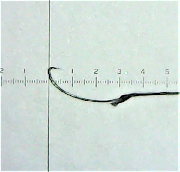 画像1: ポン太工房オリジナル タナゴ針 新半月型 シルクブレード7-0使用