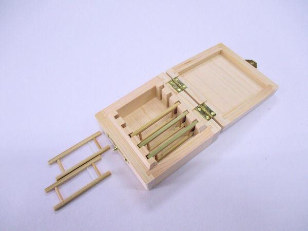 画像3: 感謝価格!総木曽檜材使用 無塗装 仕掛け入れ 真竹仕掛け巻き5本入り