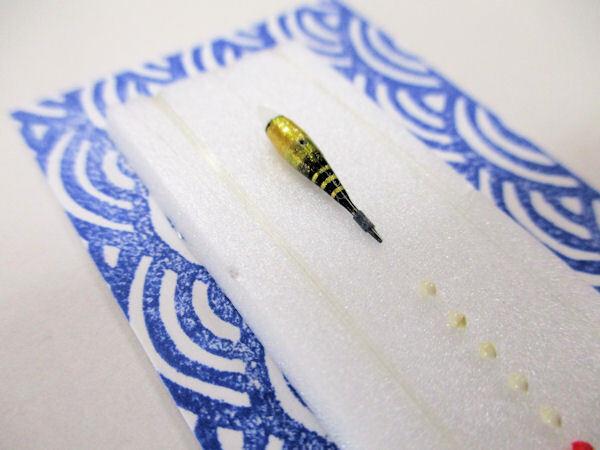 画像2: 手作りバラタナゴ、在来タナゴ釣り用 極小斜め通し立ち浮きシモリ仕掛け ライングラデーション 金黒