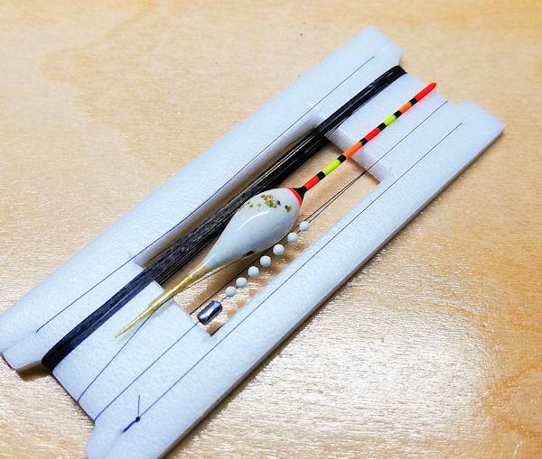 画像2: ポン太工房 在来タナゴ用TOP付き斜め通し浮き仕掛け ボディー色スーパーホワイト