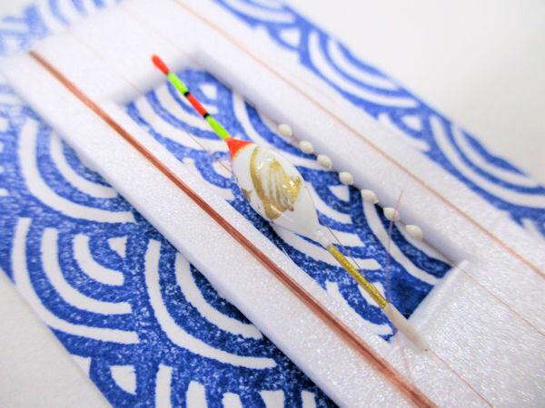 画像2: 手作りバラタナゴ、在来タナゴ釣り用 トップ付き斜め通し立ち浮きシモリ仕掛け 白金