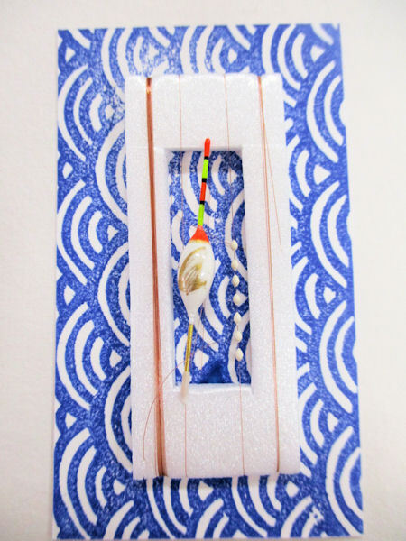 画像1: 手作りバラタナゴ、在来タナゴ釣り用 トップ付き斜め通し立ち浮きシモリ仕掛け 白金