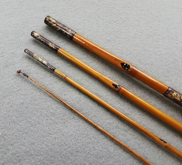 画像3: ポン太工房オリジナル和竿 矢竹 全長57cm 4本継