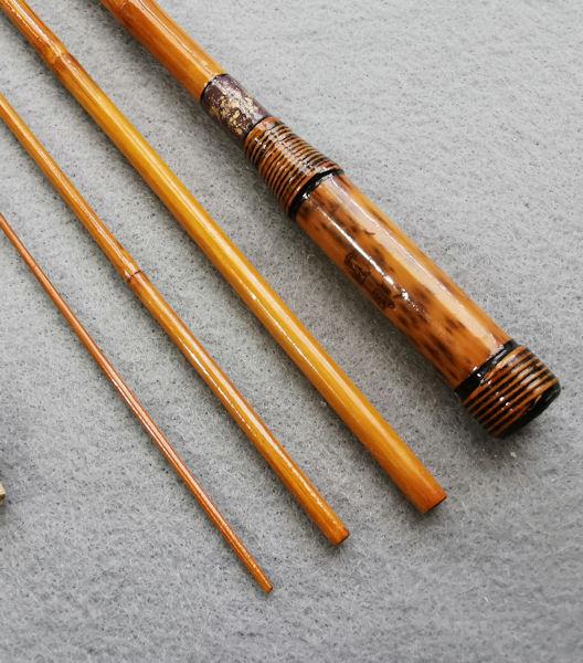 画像4: ポン太工房オリジナル和竿 矢竹 全長58cm 4本継