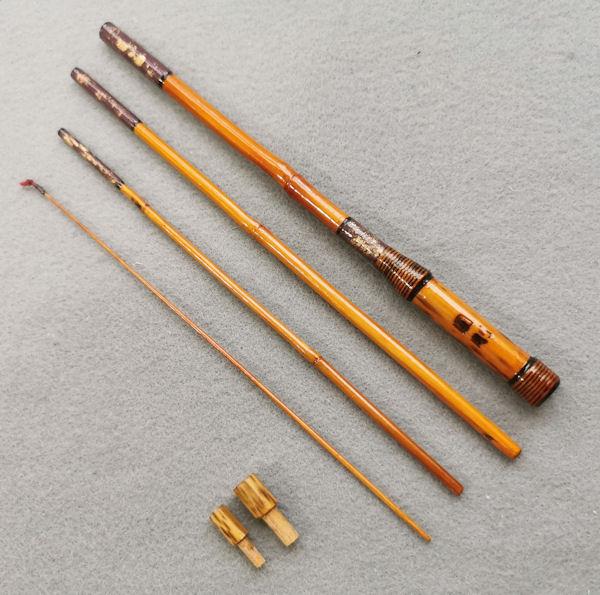 画像1: ポン太工房オリジナル和竿 矢竹 全長58cm 4本継