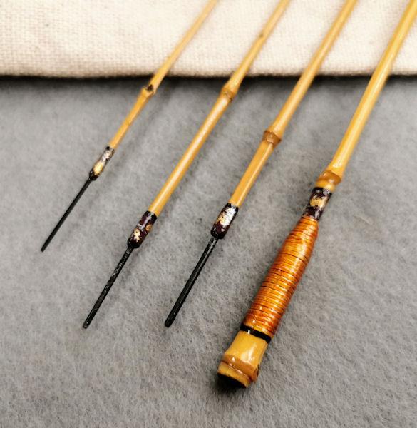 画像3: ポン太工房 オリジナル和竿 布袋竹4本継 全長47、5センチ
