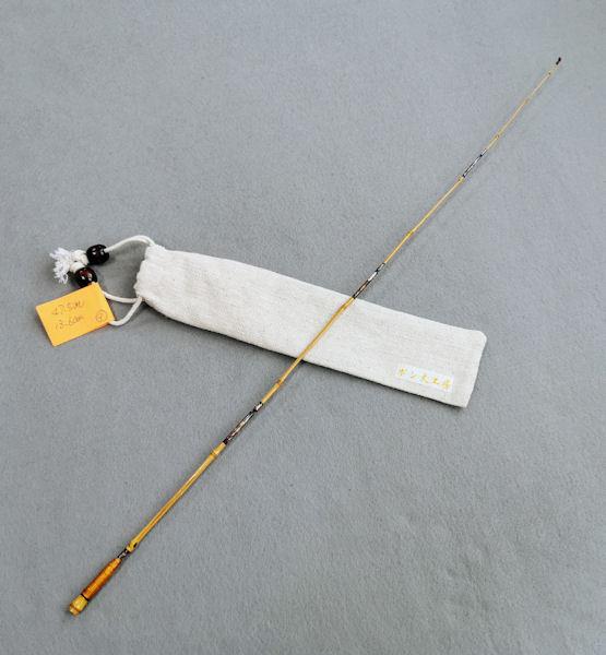 画像4: ポン太工房 オリジナル和竿 布袋竹4本継 全長47、5センチ