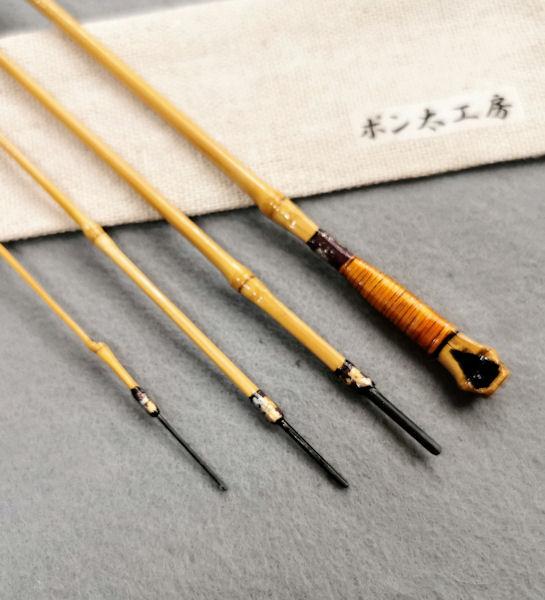 画像3: ポン太工房 オリジナル和竿 布袋竹4本継 全長53,4センチ